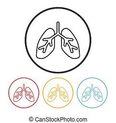 Organ line icon
