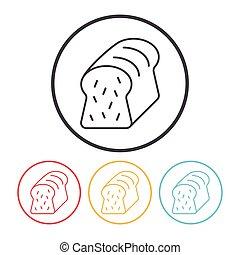トースト, 線,  bread, アイコン