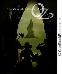 oz 3 with dorothy and text - dorothy emerging from haunted...