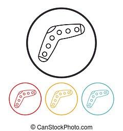 toy boomerang icon