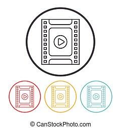 photo media line icon