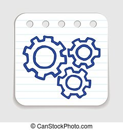Doodle Gears icon.