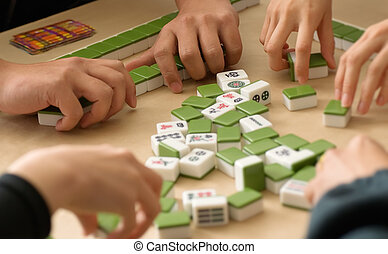 Chinese Gambling - Gambling in Chinese-Mahjong-traditional...