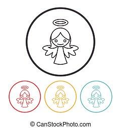 lijn, engel, pictogram