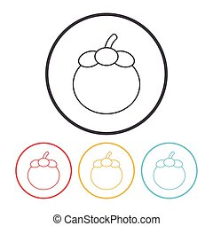 fruits Mangosteen line icon