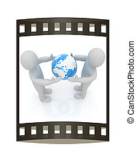 3d mens around the earth kindly make contact