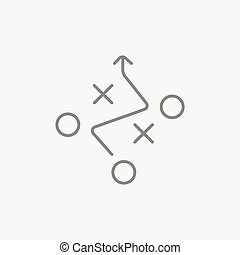 Tactical plan line icon - Tactical plan line icon for web,...