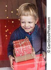 Natale, regalo, presente, capretto