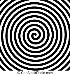 Black and white hypnosis spiral