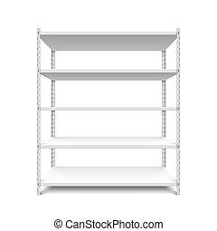 Empty storage shelf