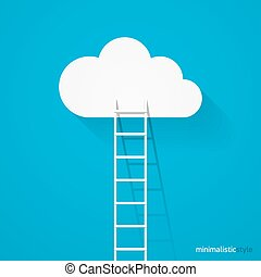 Ladder leading to cloud