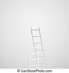 White ladder against wall