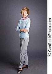portrait of elderly woman - Portrait of elderly woman on a...