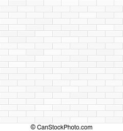 White brick wall seamless