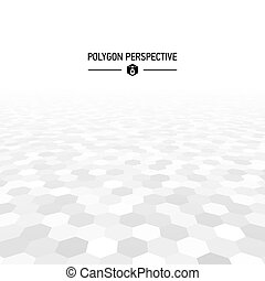 Polygon shapes perspective background