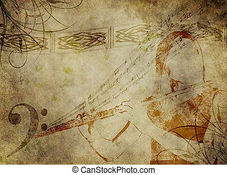 Flute music background - An illustration that represents...
