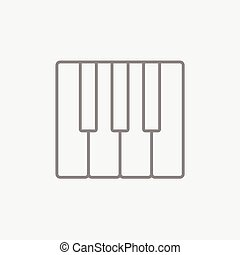 Piano keys line icon. - Piano keys line icon for web, mobile...