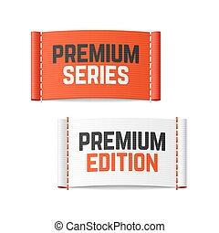 Premium series and edition labels