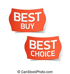 Best buy and choice labels