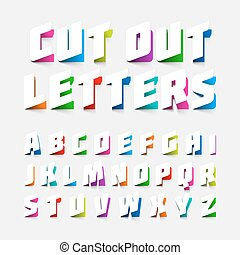 Cut out alphabet letters - Alphabet letters cut out from...