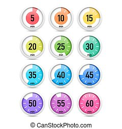 Set of colorful timers