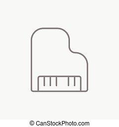Piano line icon. - Piano line icon for web, mobile and...