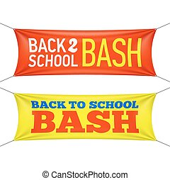 Back to School Bash banners illustration
