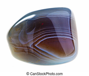Agate - Mineral Agate isolated on a white background