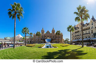 Grand casino in Monte Carlo in Monaco in a summer day