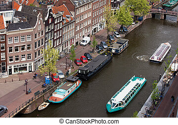 City of Amsterdam in Holland from Above - City of Amsterdam...
