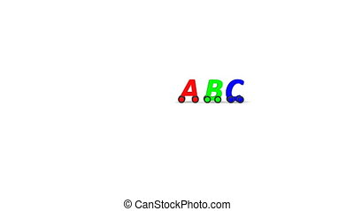 abc - driving letters abc animation