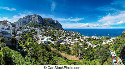 Capri island in Italy - Capri island in a beautiful summer...