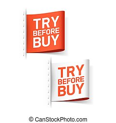 Try before buy labels