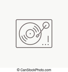 Turntable line icon - Turntable line icon for web, mobile...