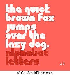Lower case alphabet letters
