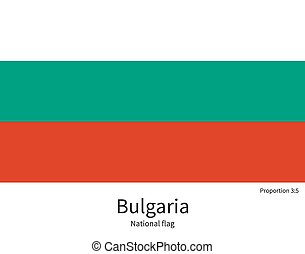 National flag of Bulgaria with correct proportions, element,...
