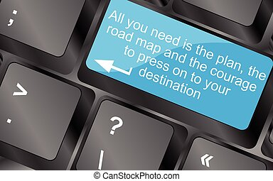 All you need is the plan, the road map, and the courage to...