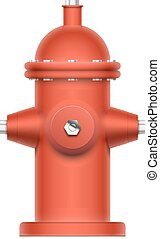 Fire hydrant - Red fire hydrant isolated on white. EPS10...