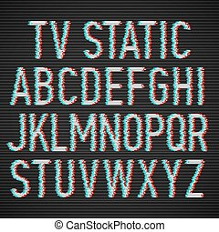 TV static effect font