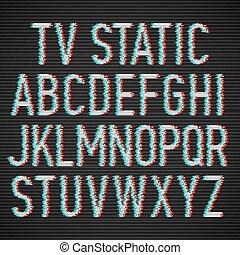 TV static effect font