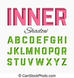 Inner shadow font illustration