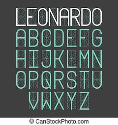 Thin simple font Leonardo