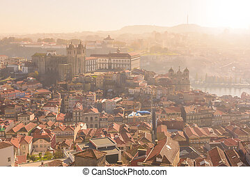 View of Oporto from high - View of the Cathedral from the...
