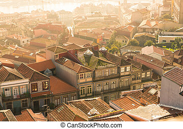 Rooftop of Oporto, Portugal - View of the rooftop from the...