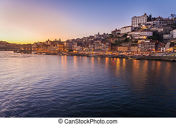 Oporto from the Dom Luiz I bridge - View of Oporto,...