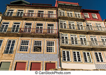 traditional houses in Oporto, Portugal - Traditional houses...