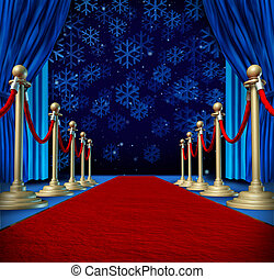 Winter Red Carpet Background - Winter red carpet background...