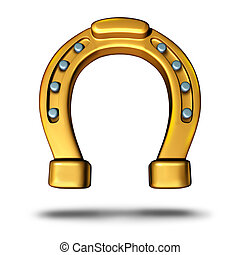Horseshoe icon or horse shoe symbol as a good luck charm as...
