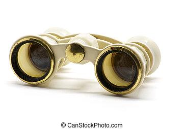Theater white binoculars front