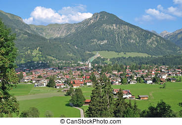 Oberstdorf,Allgaeu,Germany - Village of Oberstdorf in...